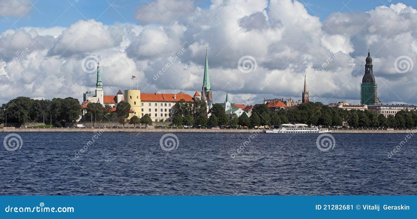 Riga, Latvia. Vista di vecchia città