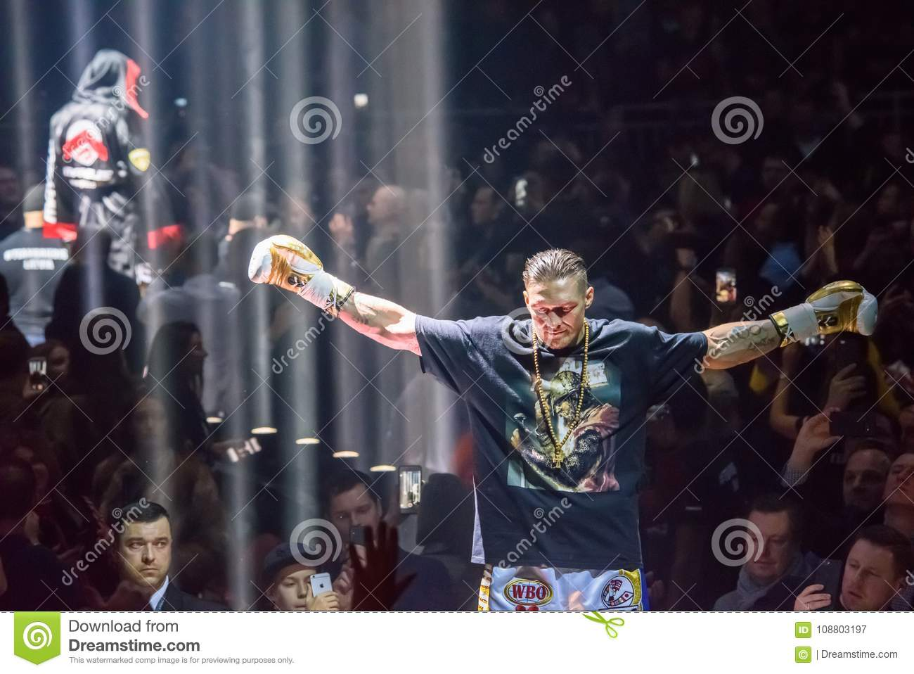 Oleksandr Usyk, before World Boxing Super Series semi final fight between Mairis Briedis and Oleksandr Usyk. Arena Riga.