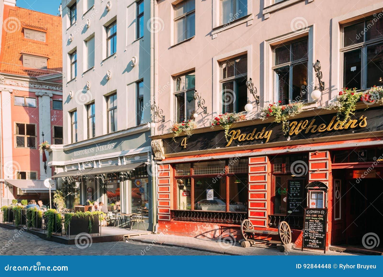 Riga, Letland Paddy Whelans Irish Pub And-Sportenbar in Grecinieku