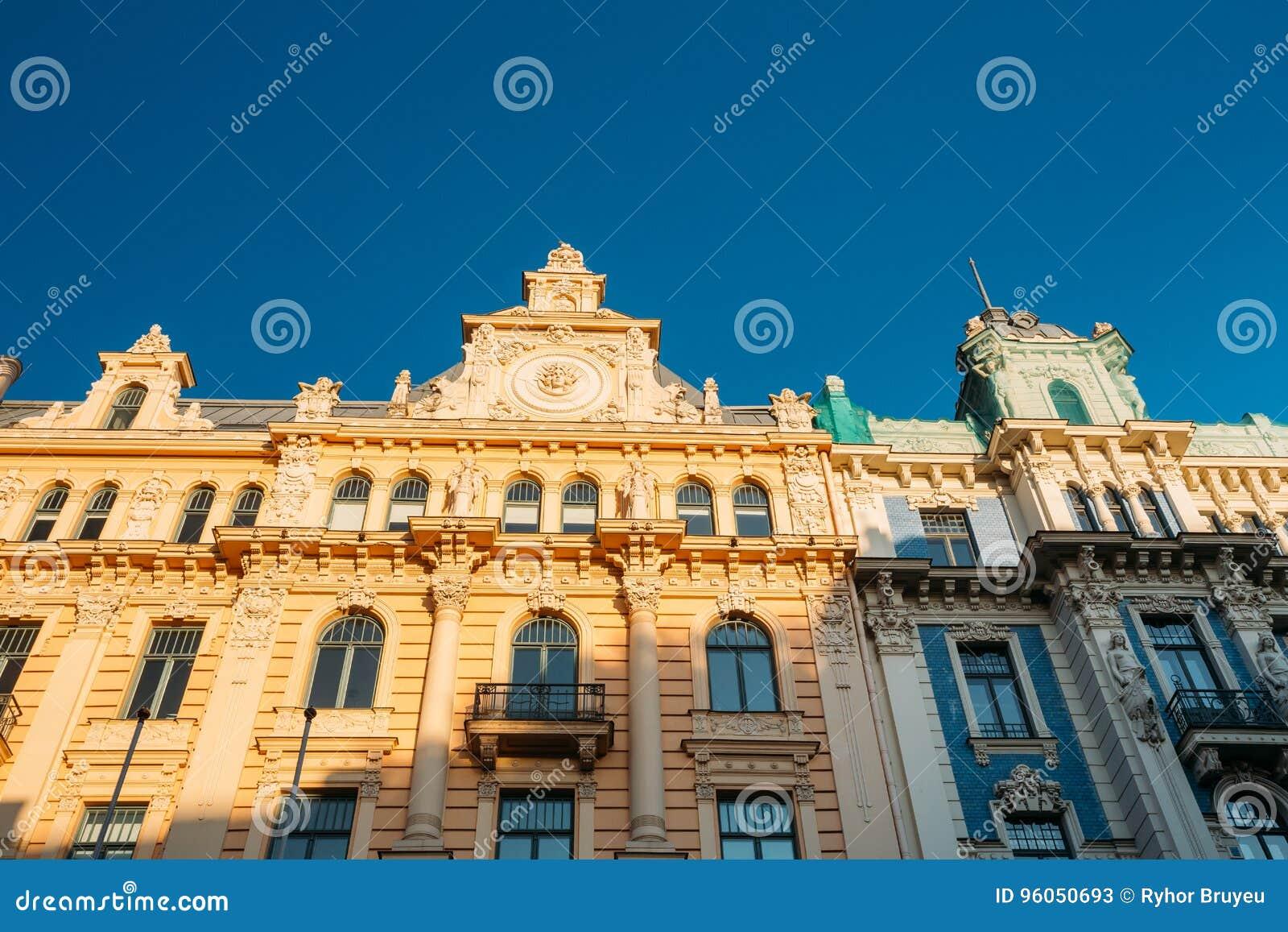 Riga, Lettonie Art Nouveau Building Designed By Mikhail Eisenstein