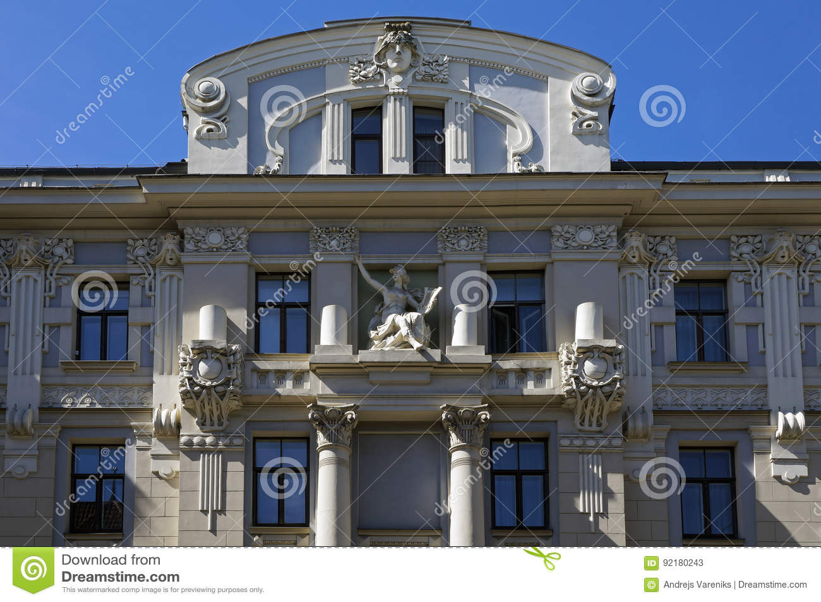 Riga Vilandes 1 A House In The Style Of Decorative Art Nouveau
