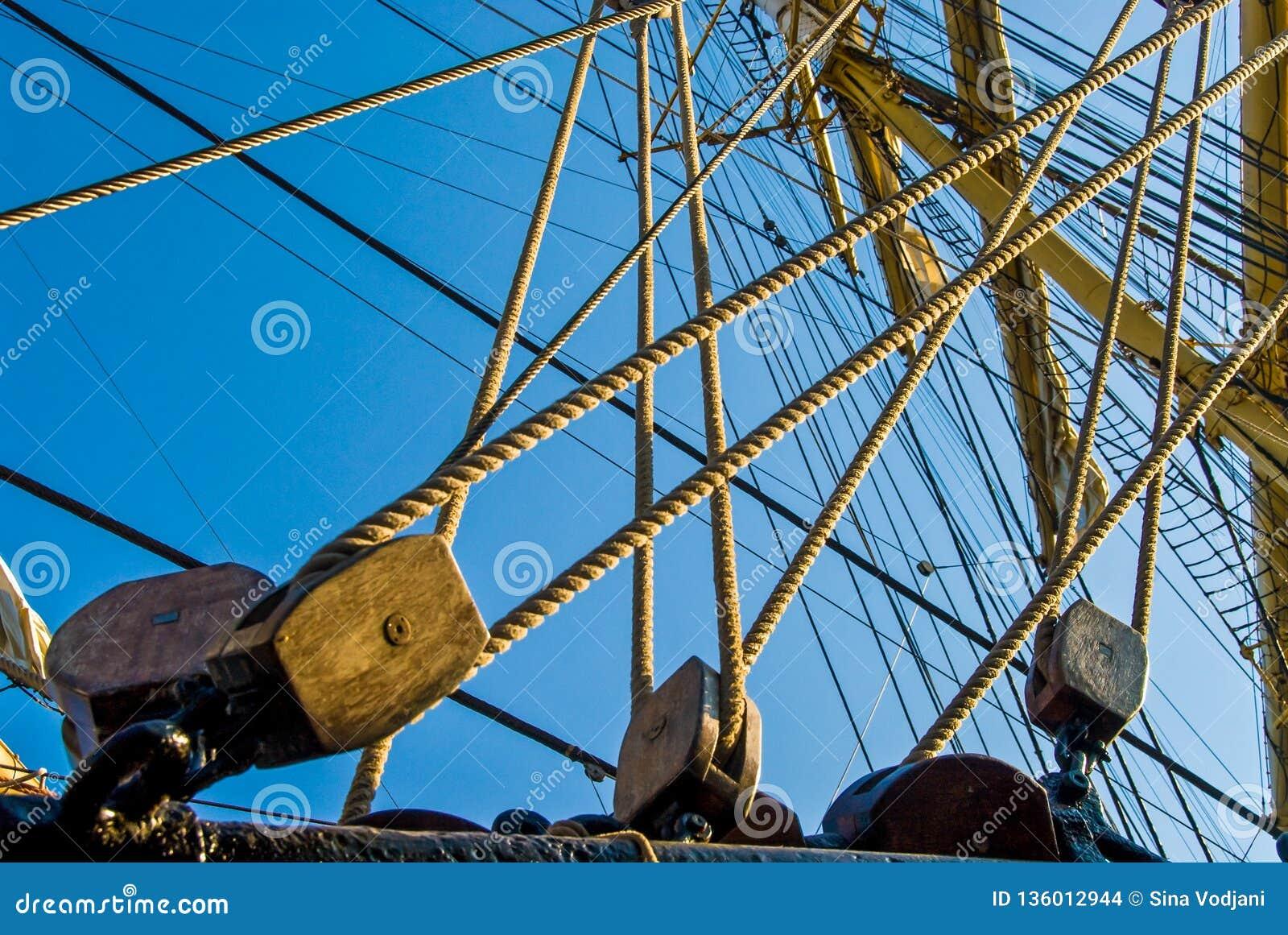 Rigg de la nave y línea del arnés