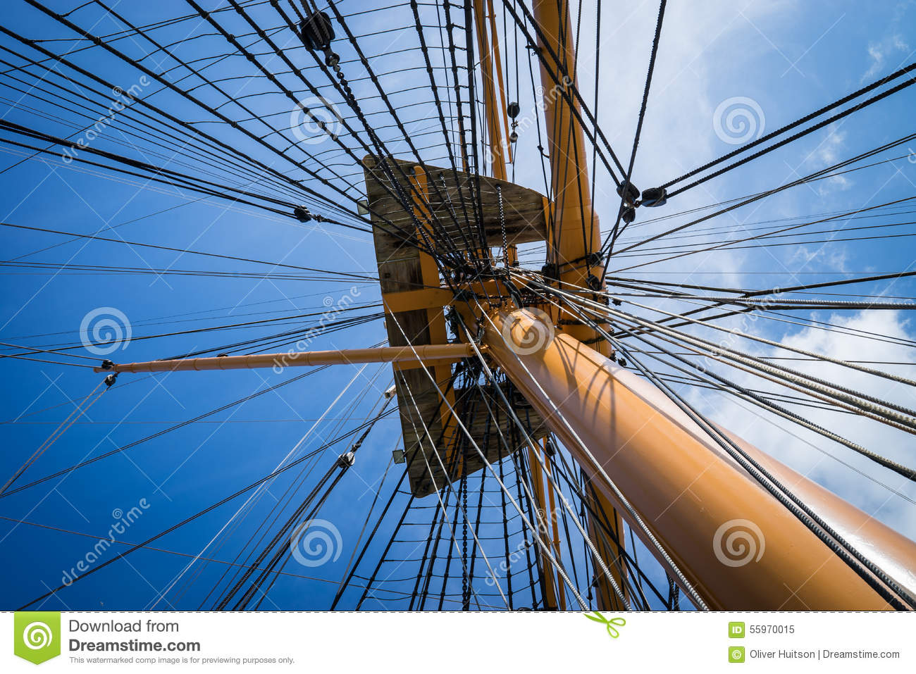 Rigging above