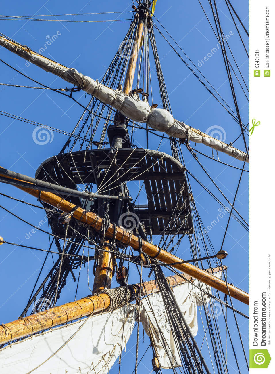 Rigging of a tall ship.