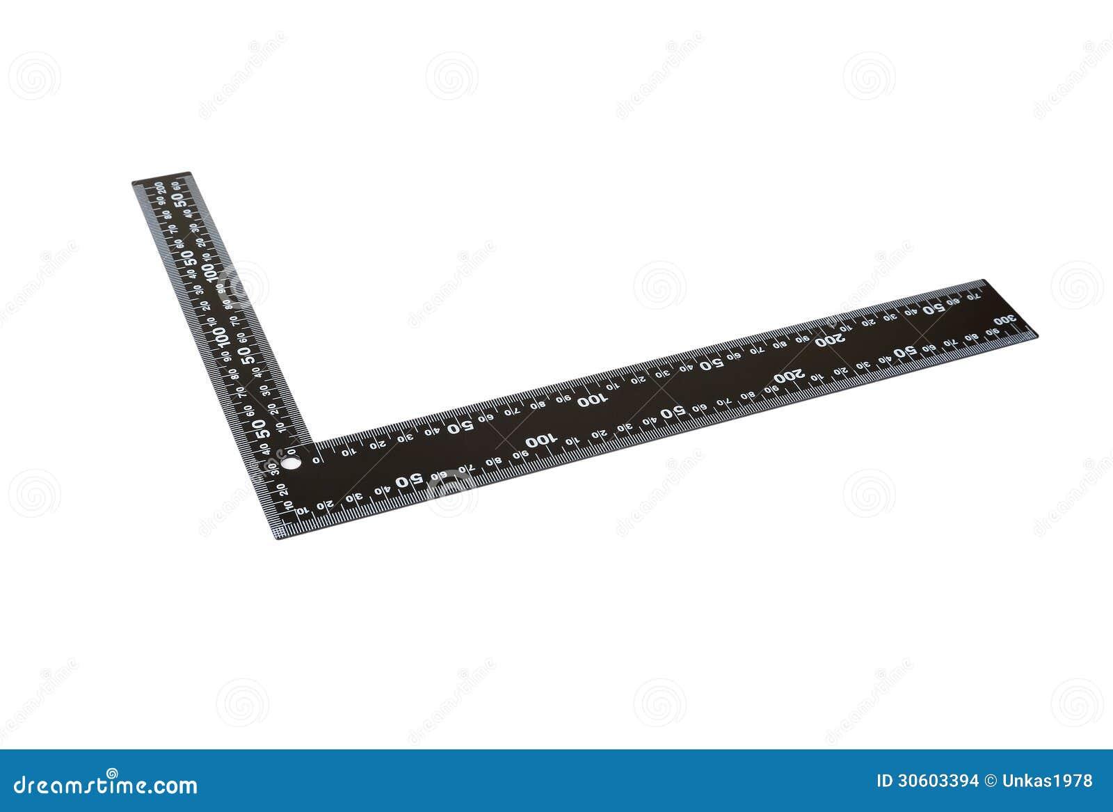 Righello del ferro con la barra di angolo fotografia stock for Disegni della barra del garage
