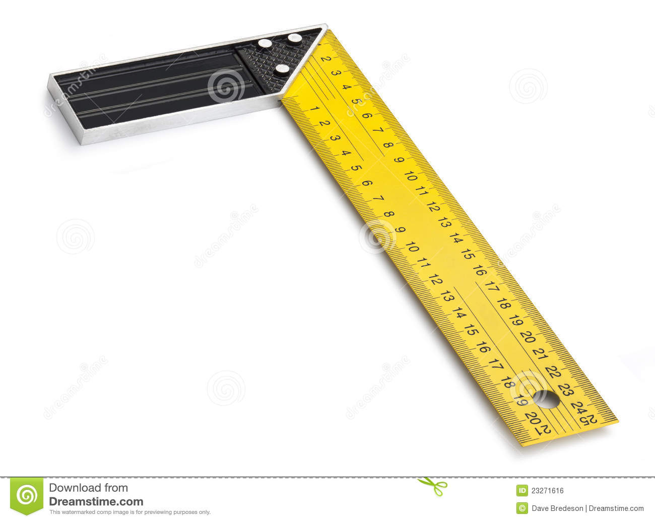 Right Angle Tool : Right angle tool stock photo image of yellow degrees