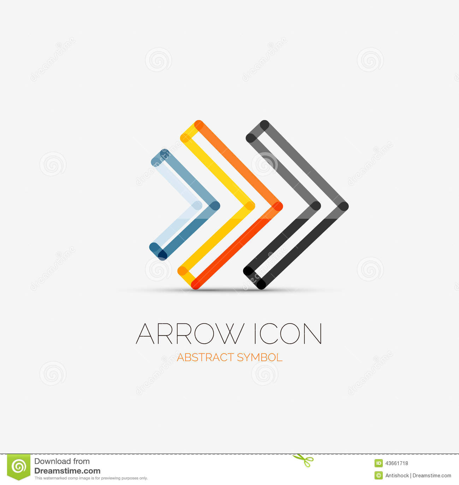 Right arrows company logo, business concept