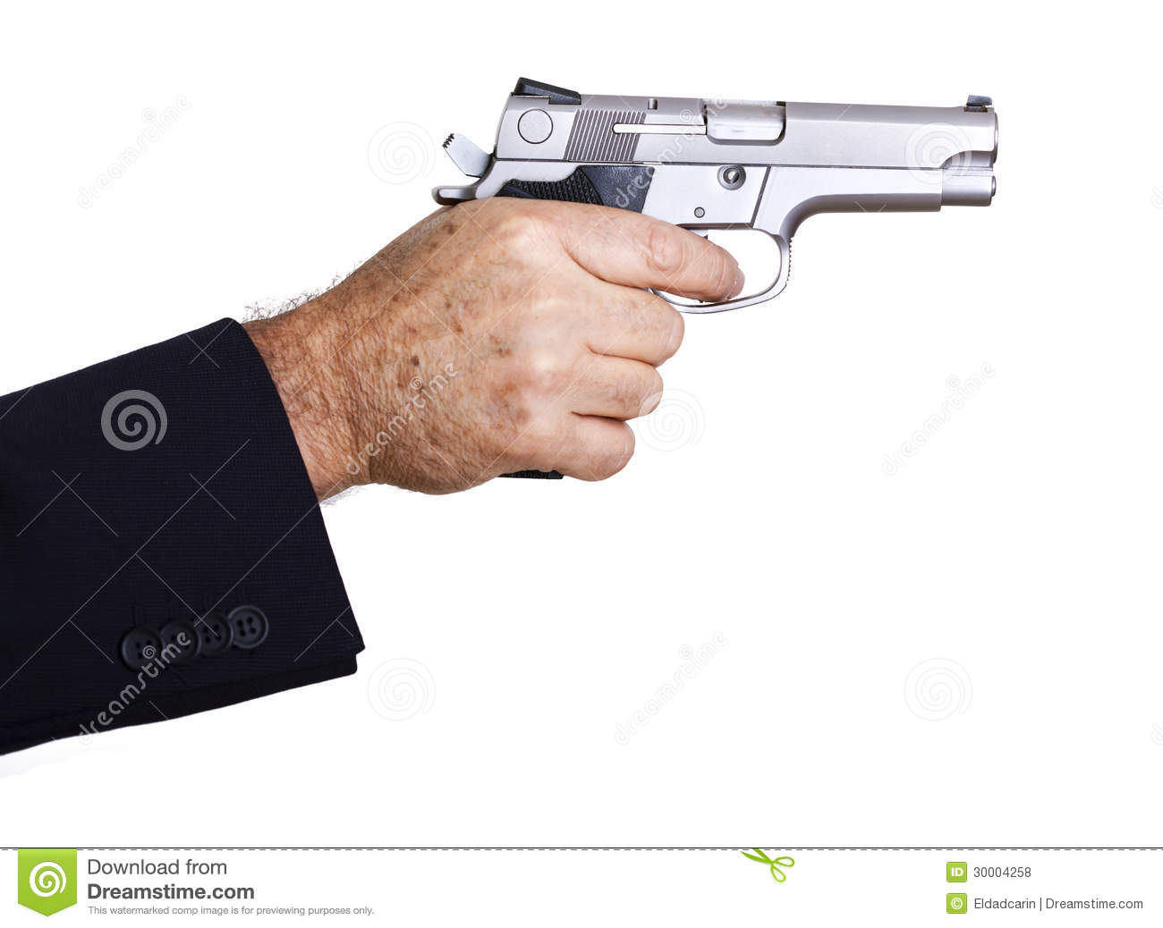 Aiming Loaded Gun - Close Up Stock Photo - Image: 30004258