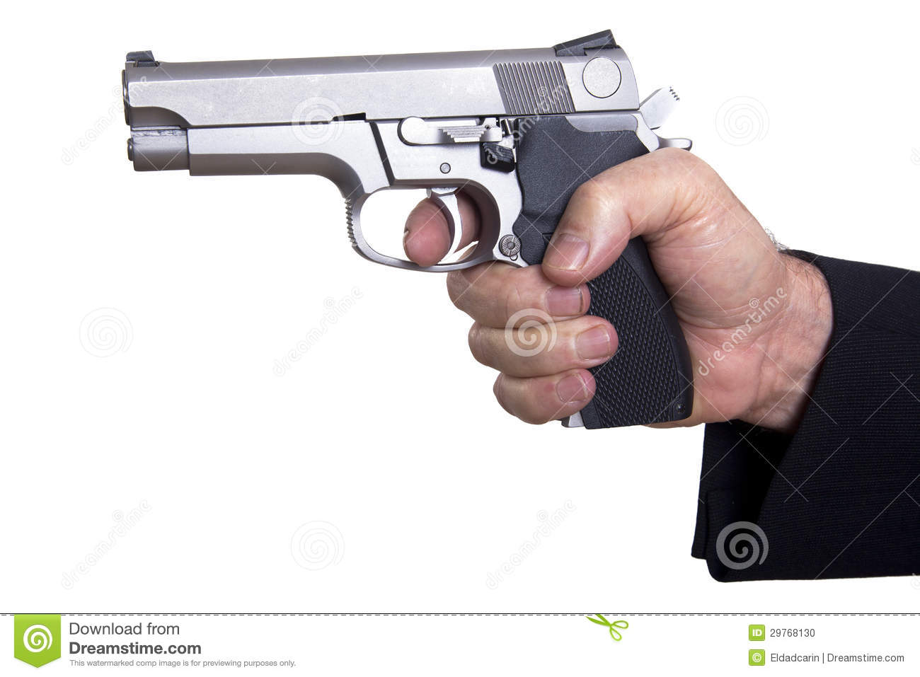 Aiming Loaded Gun - Close Up Stock Photo - Image: 29768130