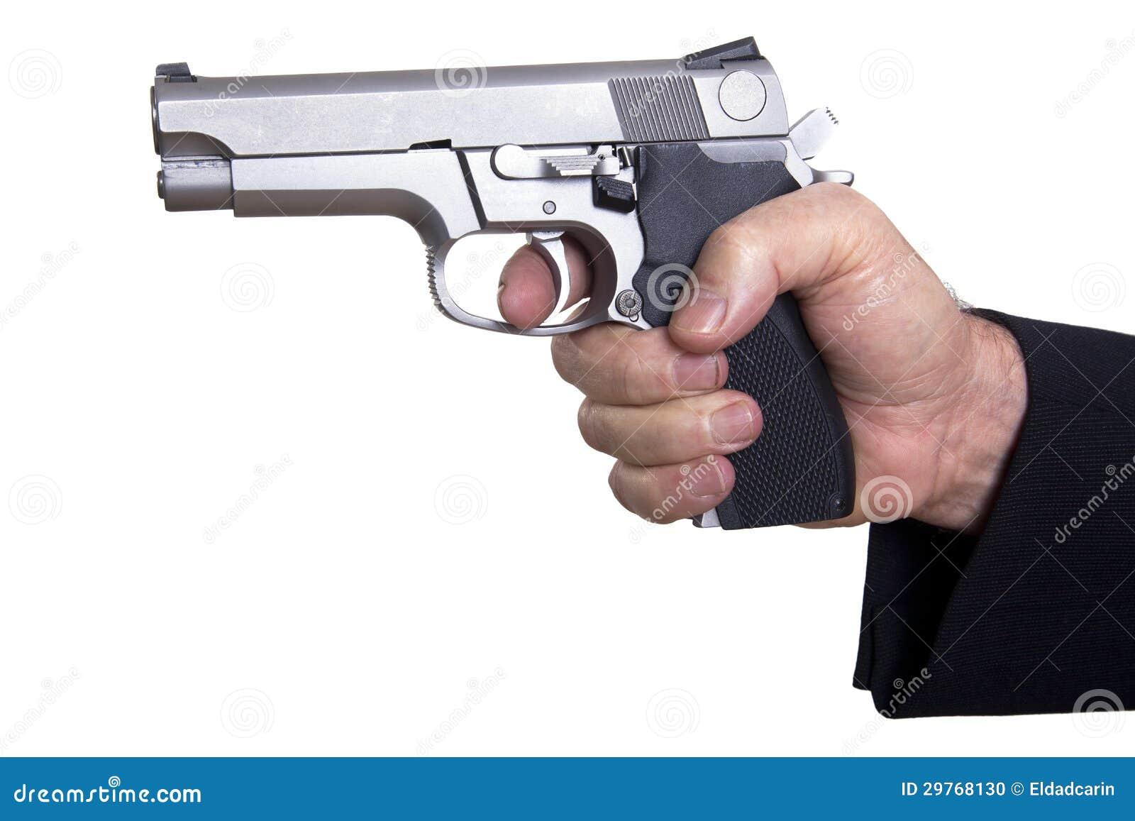 Aiming Loaded Gun - Close Up Stock Photo - Image: 29768130
