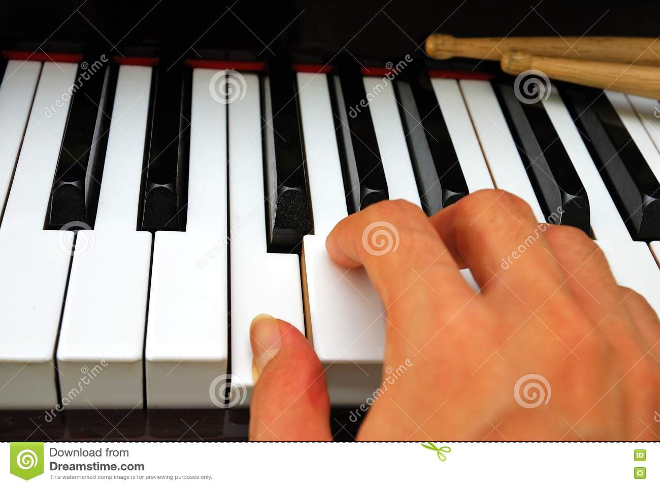 right hand playing on piano keyboard stock image image of piano note 14020263. Black Bedroom Furniture Sets. Home Design Ideas