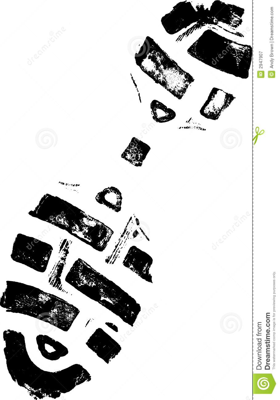 Black Shoe Print Royalty Free Cliparts, Vectors, And Stock