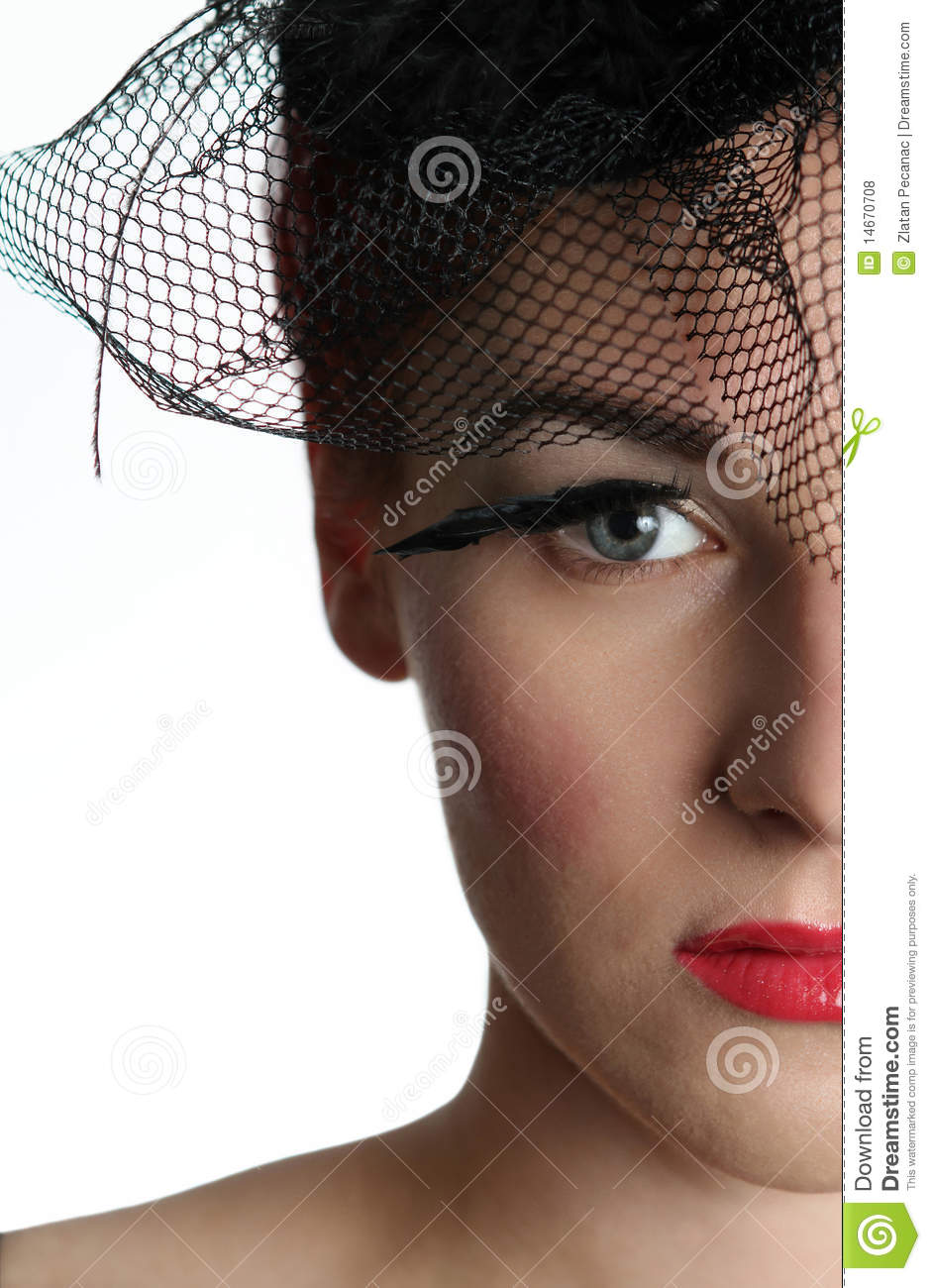 Right Side Of A Young Woman U0026 39 S Face Royalty Free Stock