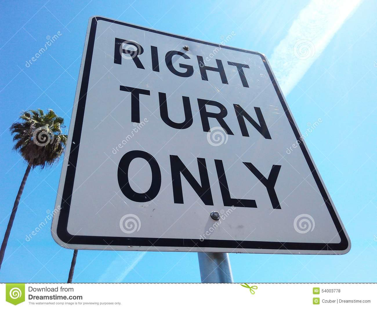 right turn only sign stock photo image 54003778