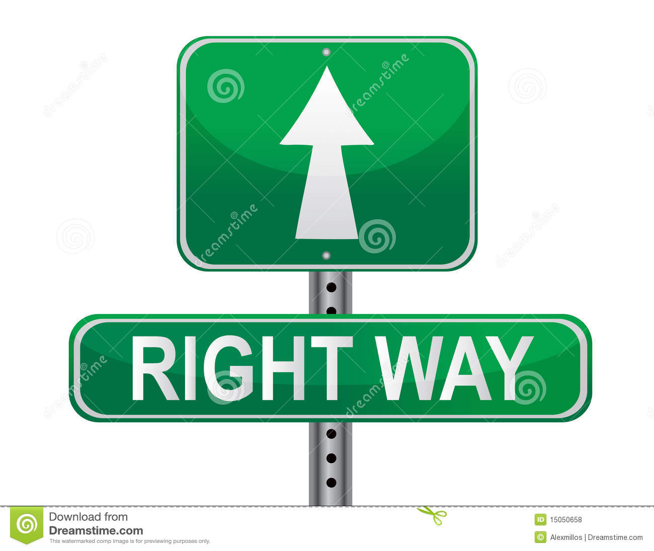 Right Way Street Sign Royalty Free Stock Photos Image