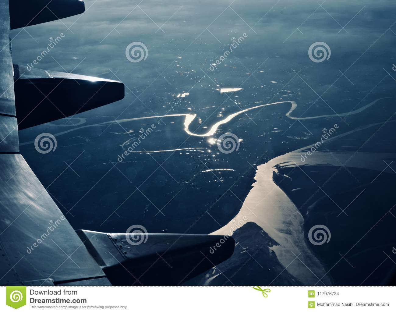 Download Right Wings Of An Airplane With Sky Background Image Stock Photo - Image of unique, wings: 117976734