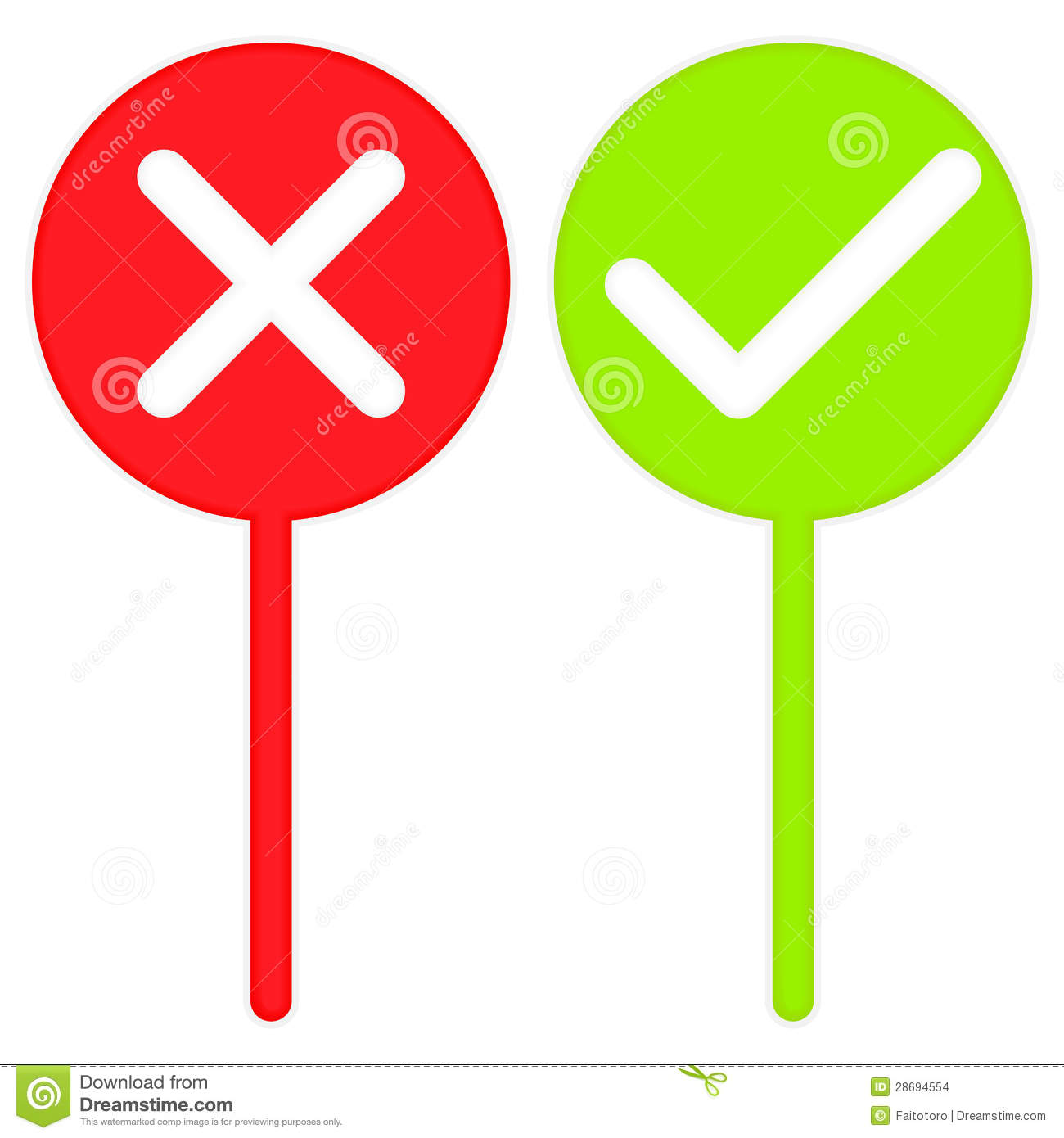 Right Or Wrong Sign Stock Images  Image: 28694554