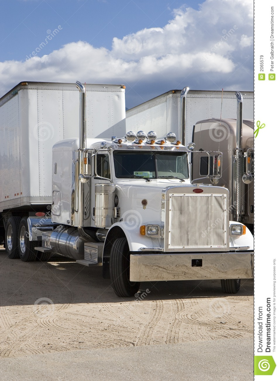 Download Rigs in a row stock image. Image of breaker, wheels, white - 2065579