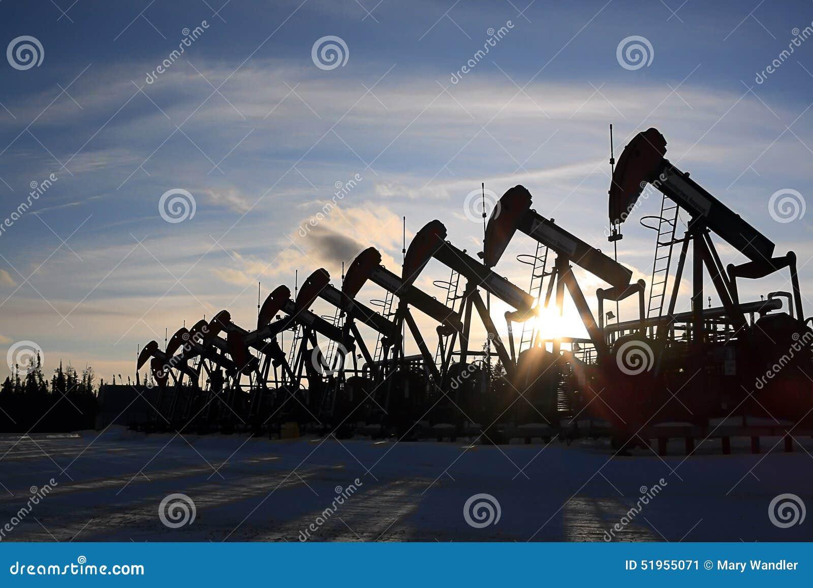 Rij van de Hefbomen van de Oliepomp