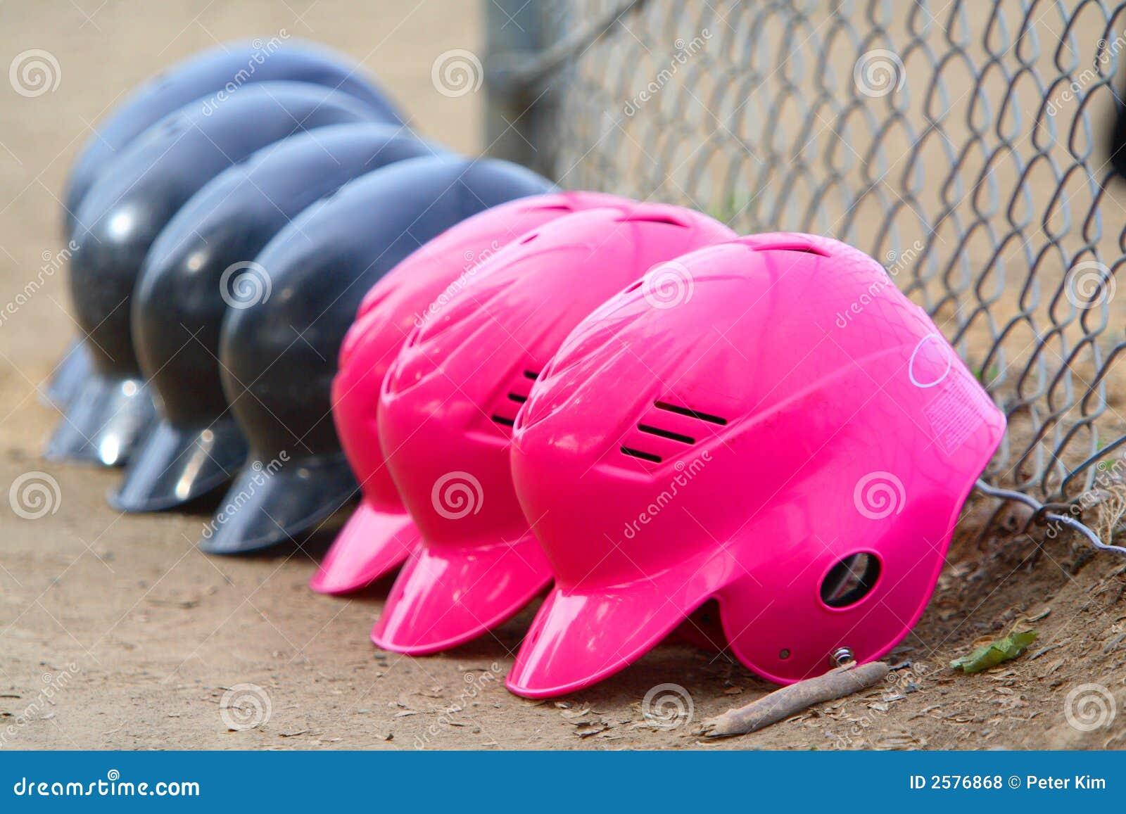 Rij van de Helmen van het Softball van Meisjes