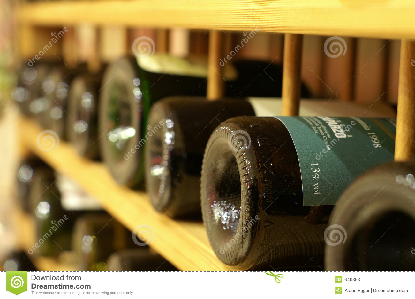 Rij van wijnen