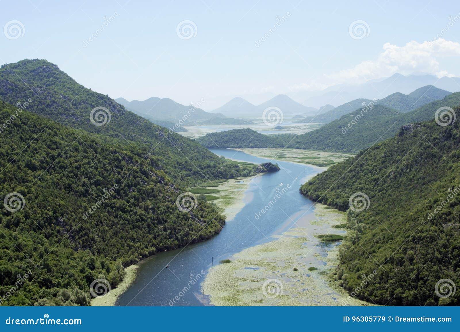Rijeka crnojevica Montenegro River and Mountains