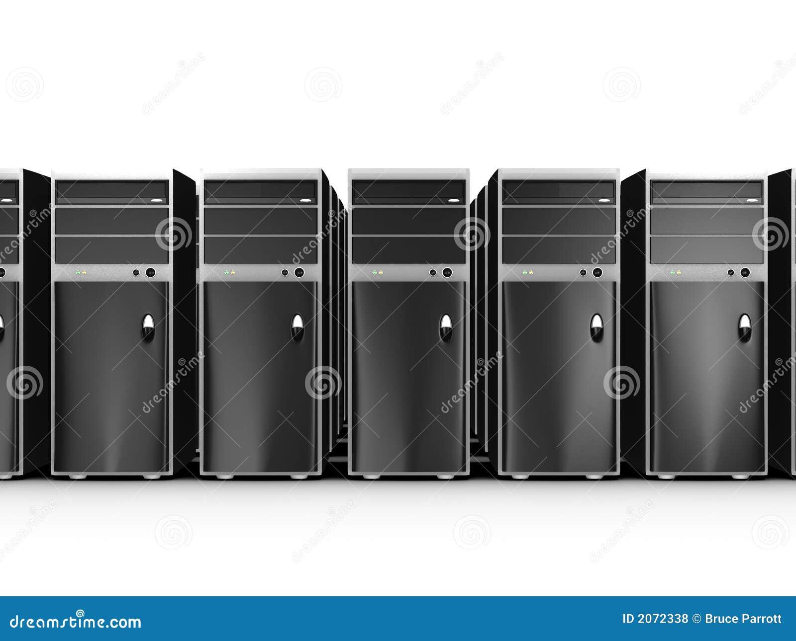 Rijen van computers