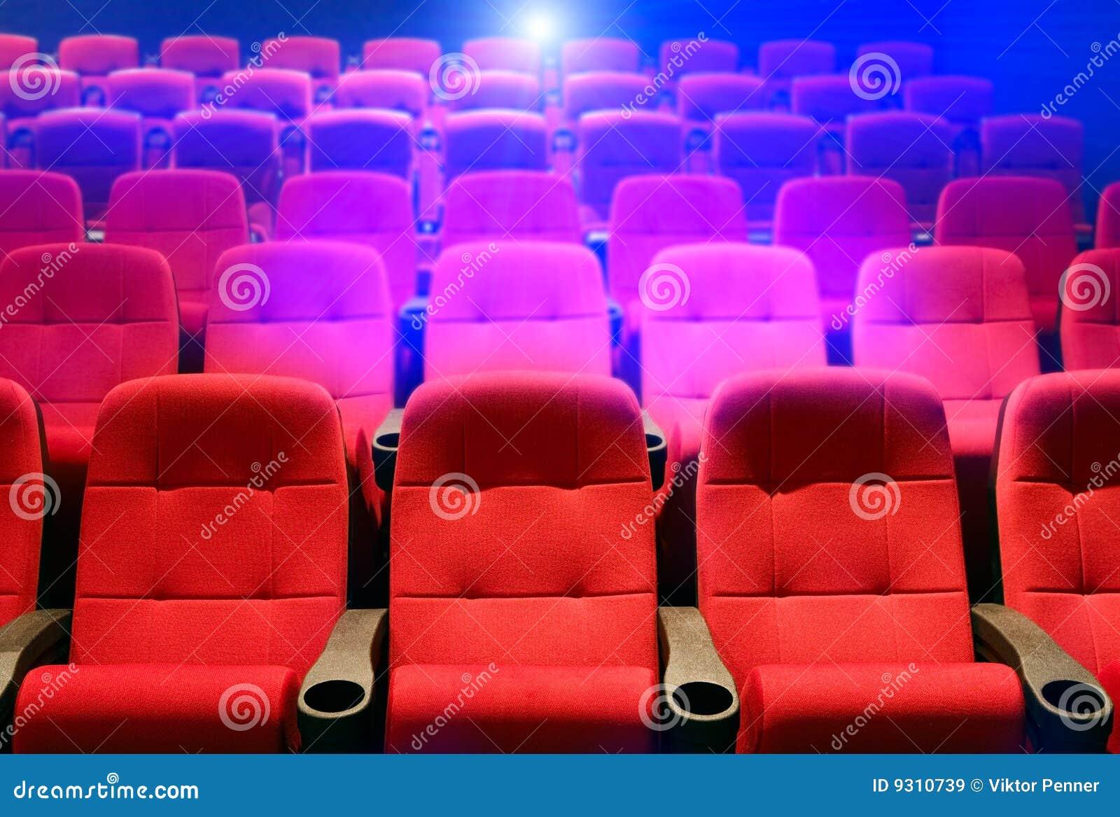 Rijen van theaterzetels