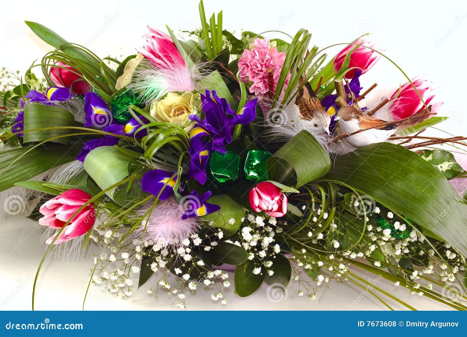 Beroemd Boeket van bloemen stock foto. Afbeelding bestaande uit mooi  @ND96