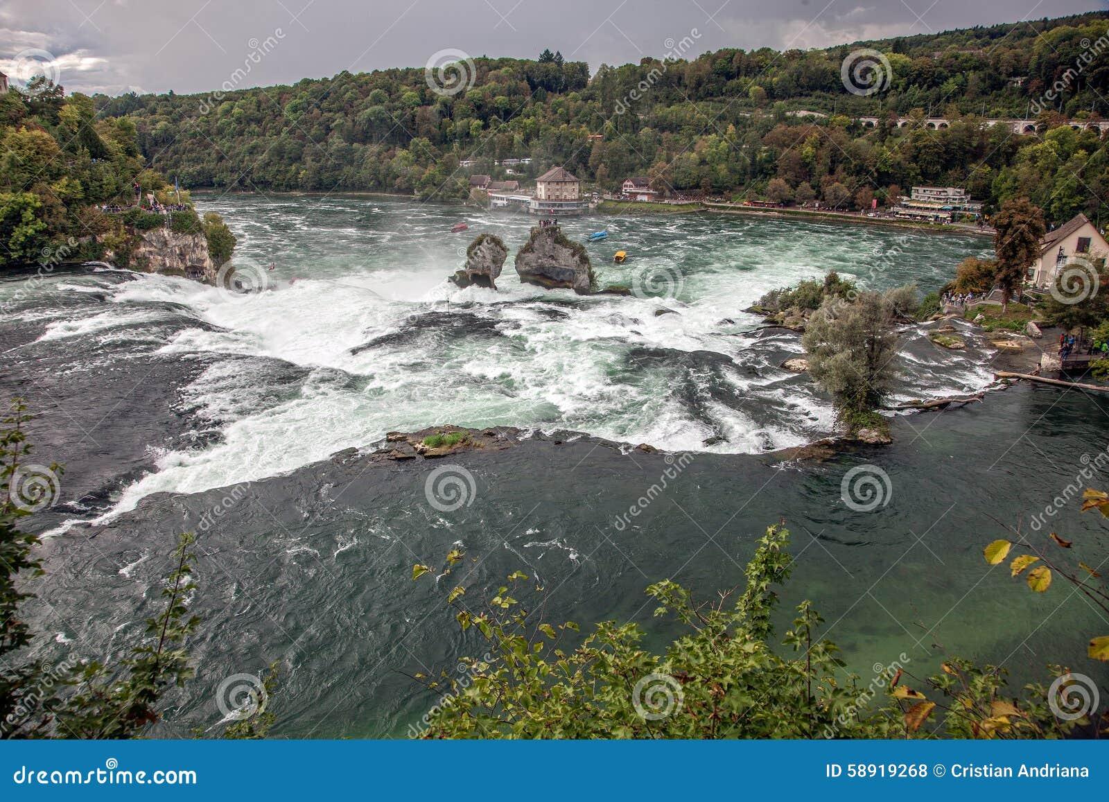 Waterval Rijn Zwitserland.Rijn Dalingen Grootste Waterval In Europa Schaffhausen