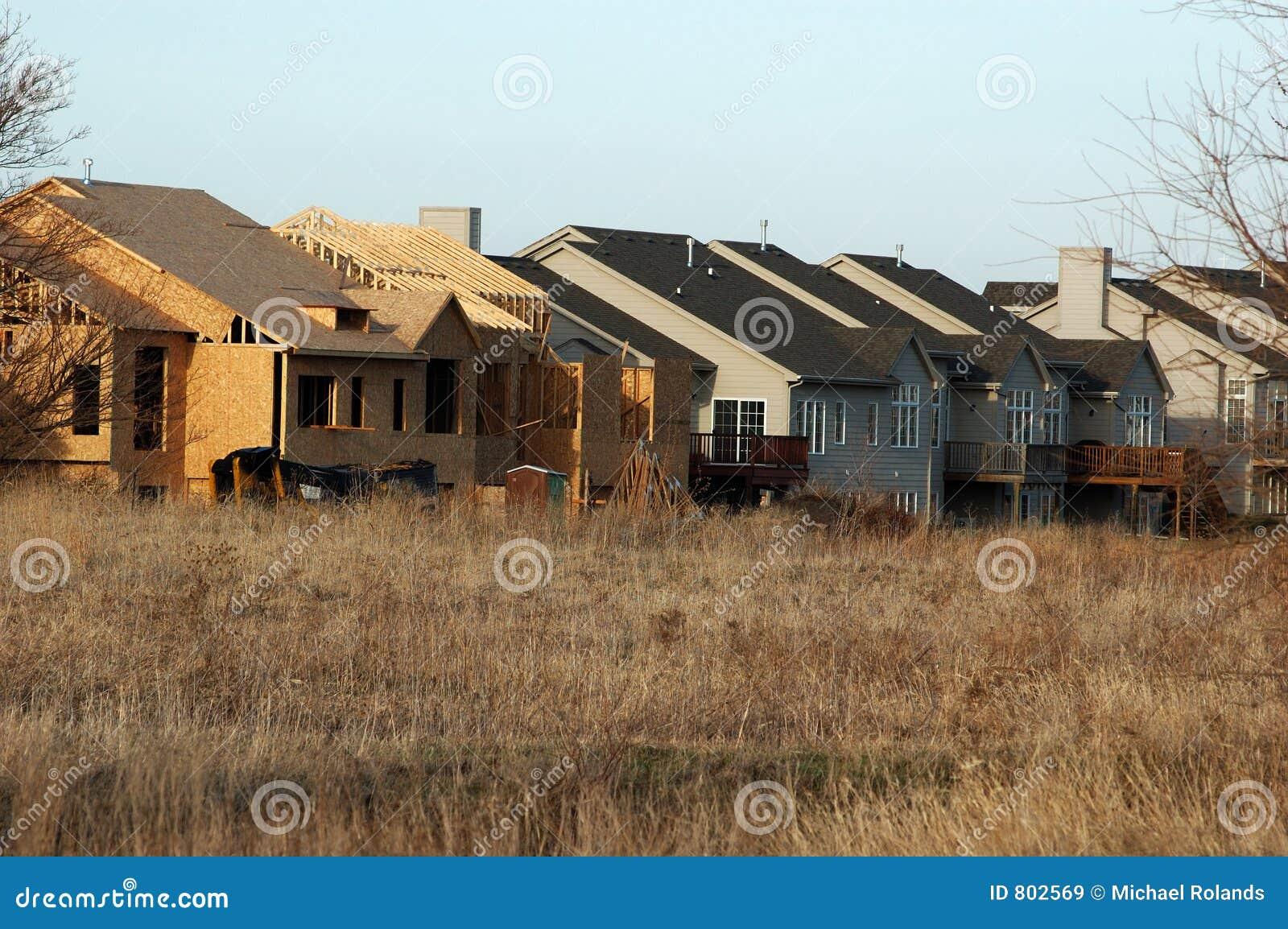 Rijtjeshuis In Aanbouw Royalty Vrije Stock Afbeeldingen Beeld 802569