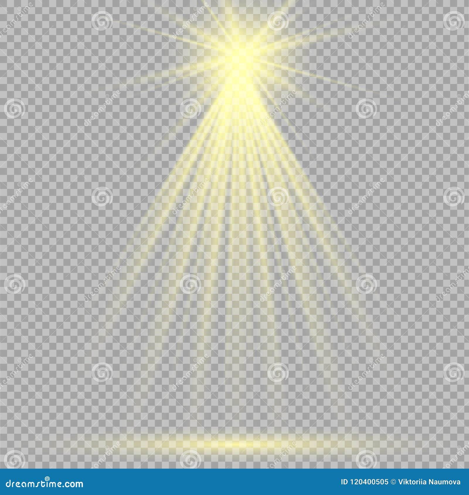 Riktar uppmärksamheten på ljusa effekter för plats också vektor för coreldrawillustration