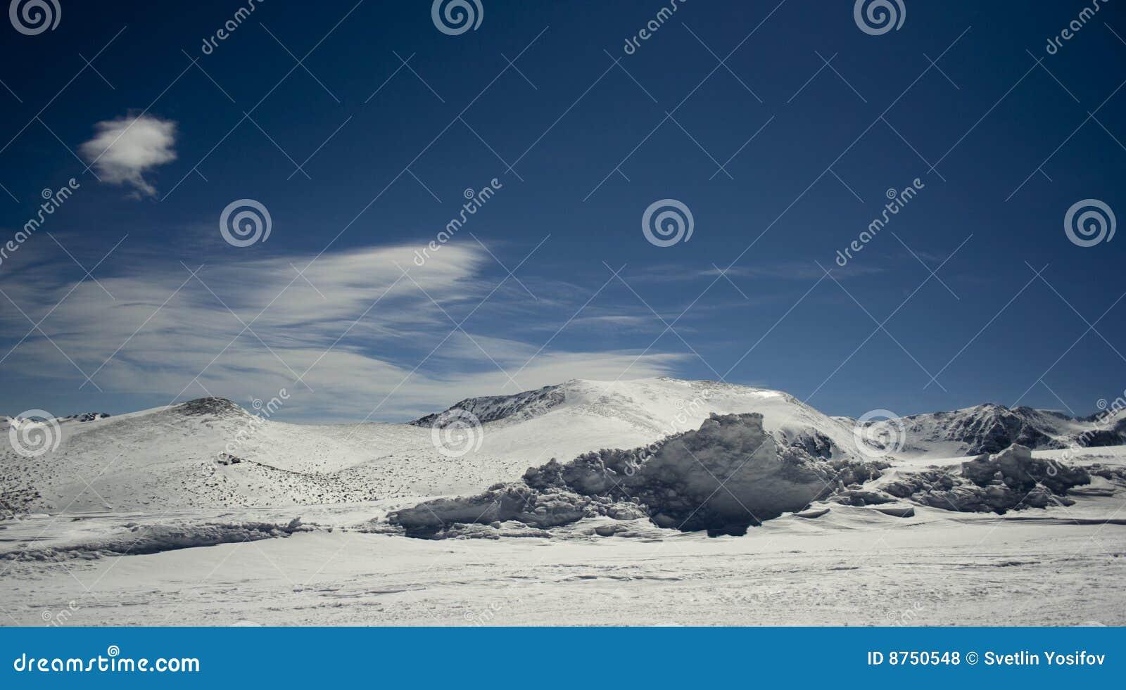 Rila krajobrazowa zima