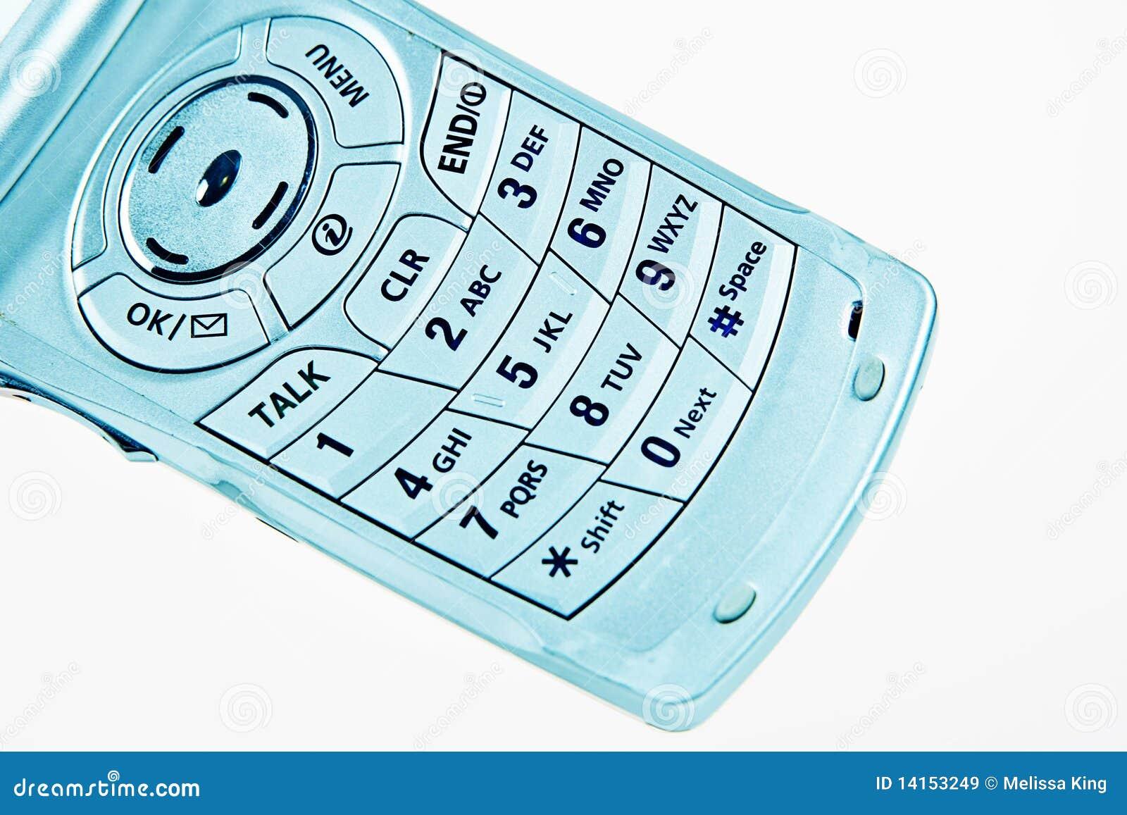 Rilievo di numero di telefono delle cellule