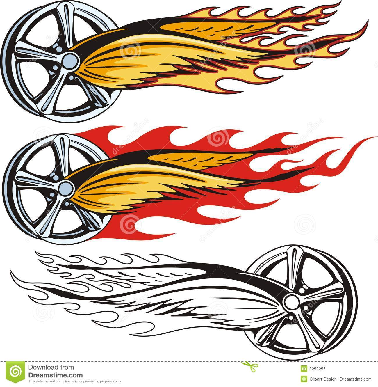 Rim With Flaming Wings Stock Illustration Image Of