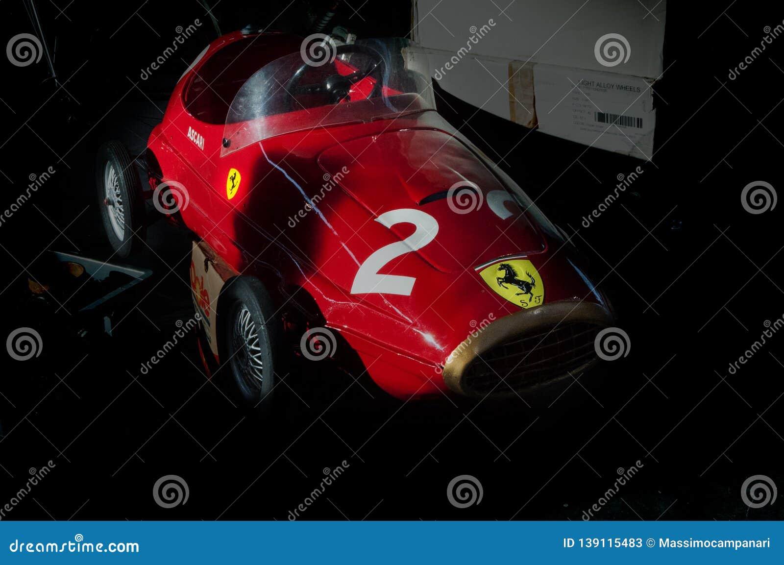 Rimini Italy Feb 10 Vintage Ferrari Ascari Toys Editorial Stock Photo Image Of Amica Driving 139115483