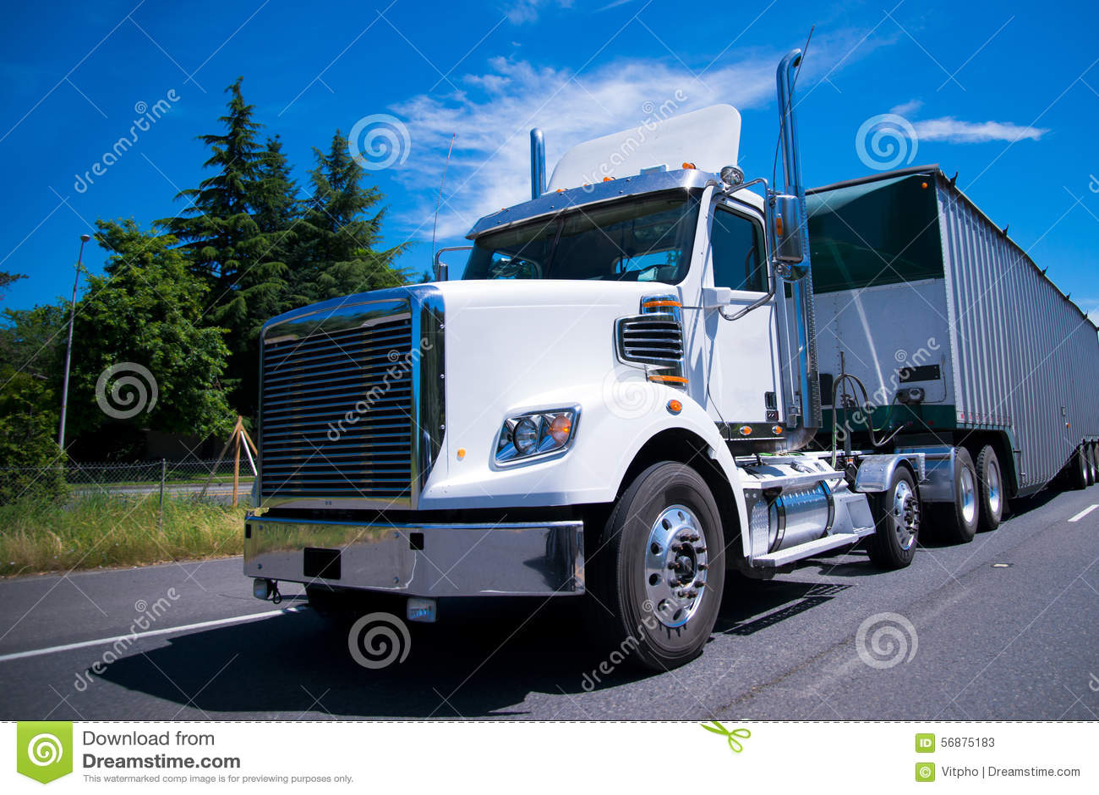 Rimorchio eccellente alla rinfusa della carrozza di giorno del camion dei semi dell impianto di perforazione sulla strada