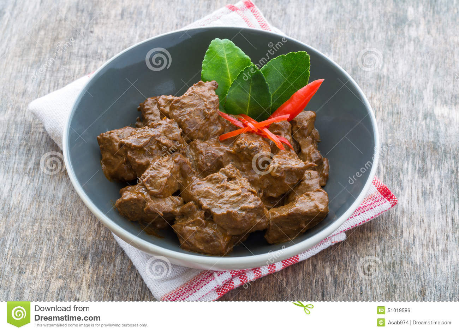 Rindfleisch Rendang, indonesisches Lebensmittel
