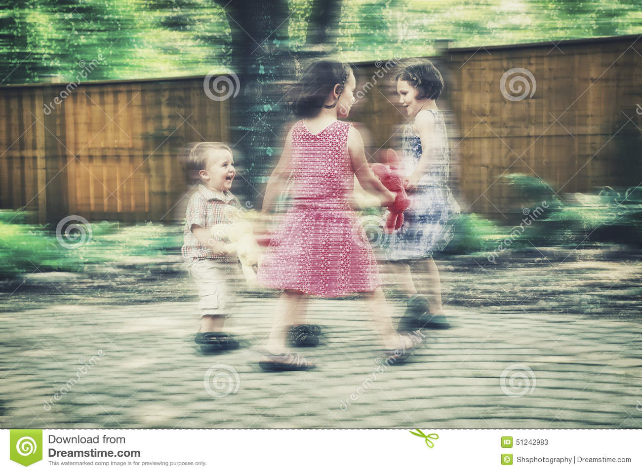 Ring Around The Rosie Motion Blur - Retro Stock Image - Image of ...