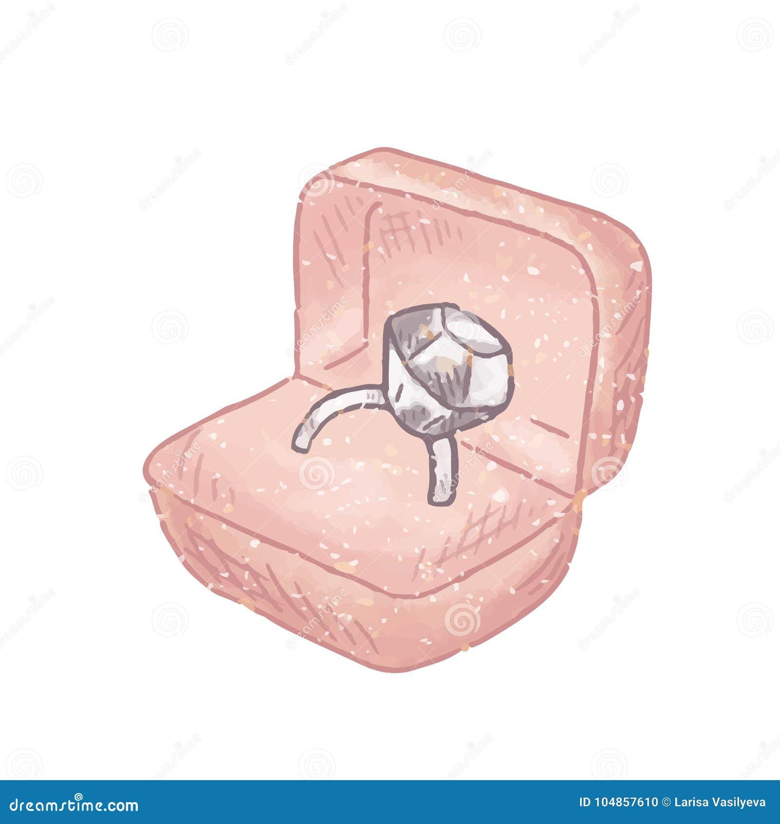 Ring in box stock vector. Illustration of inside, precious - 104857610
