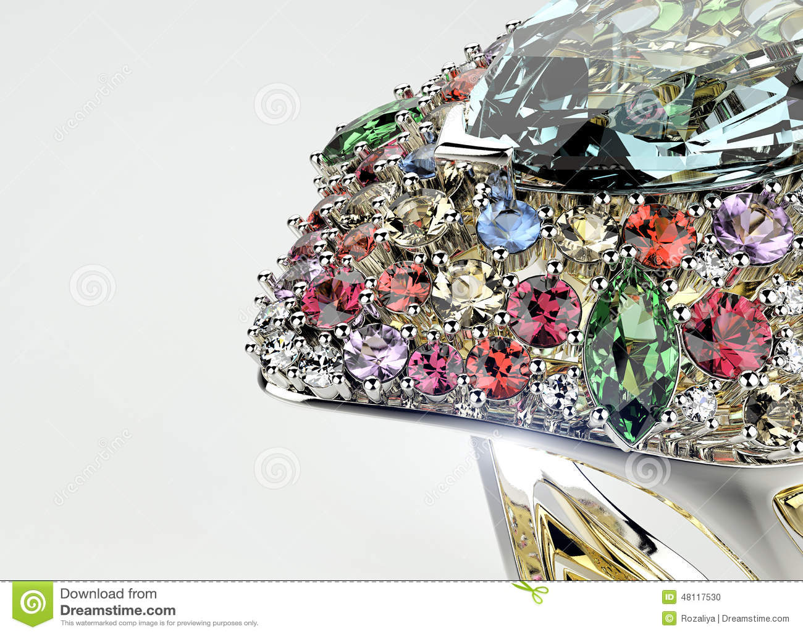 Ring With Diamond. Fashion Jewelry Background Stock Photo ...