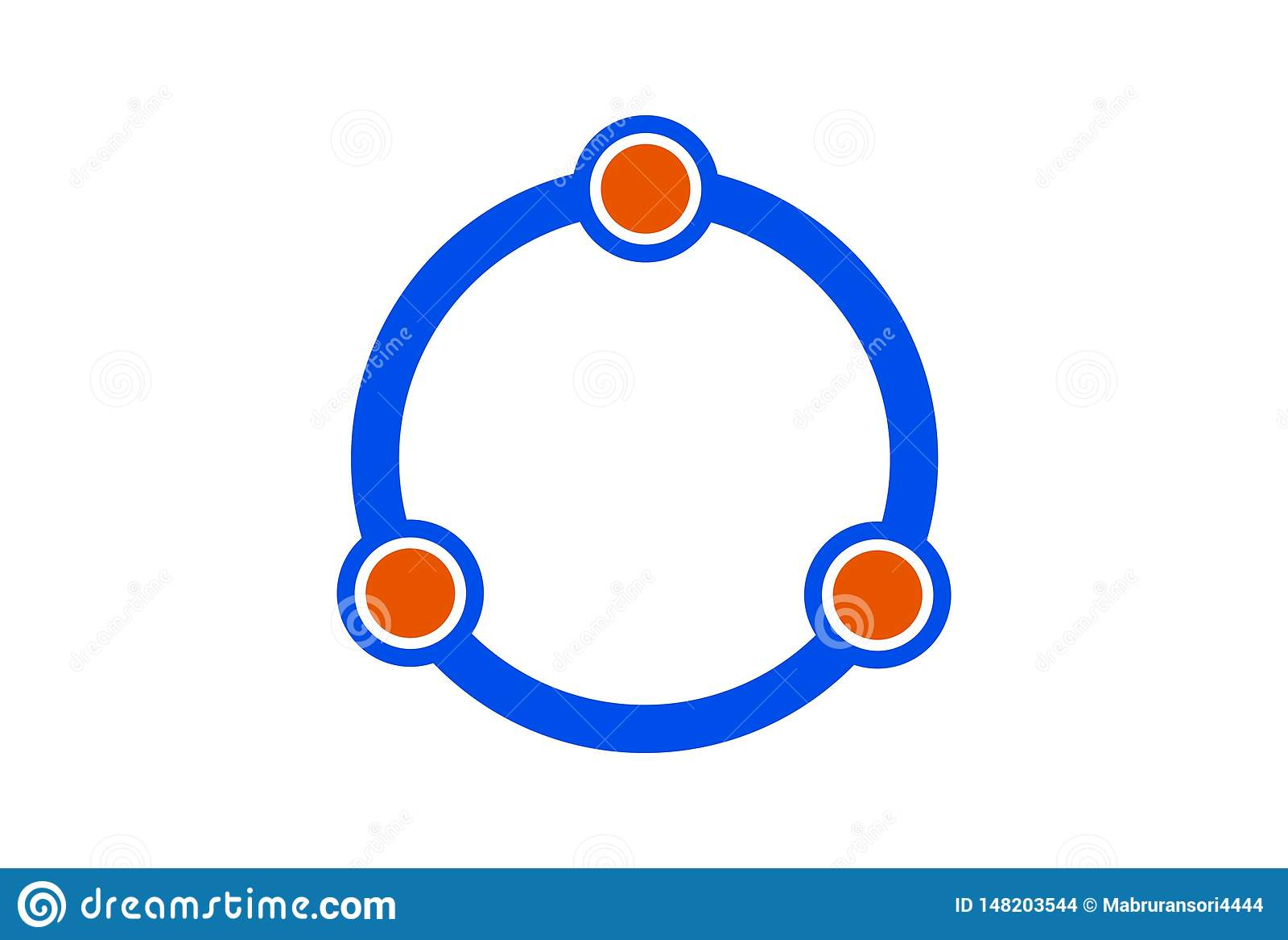 Ring drie het pictogram van het hoekembleem