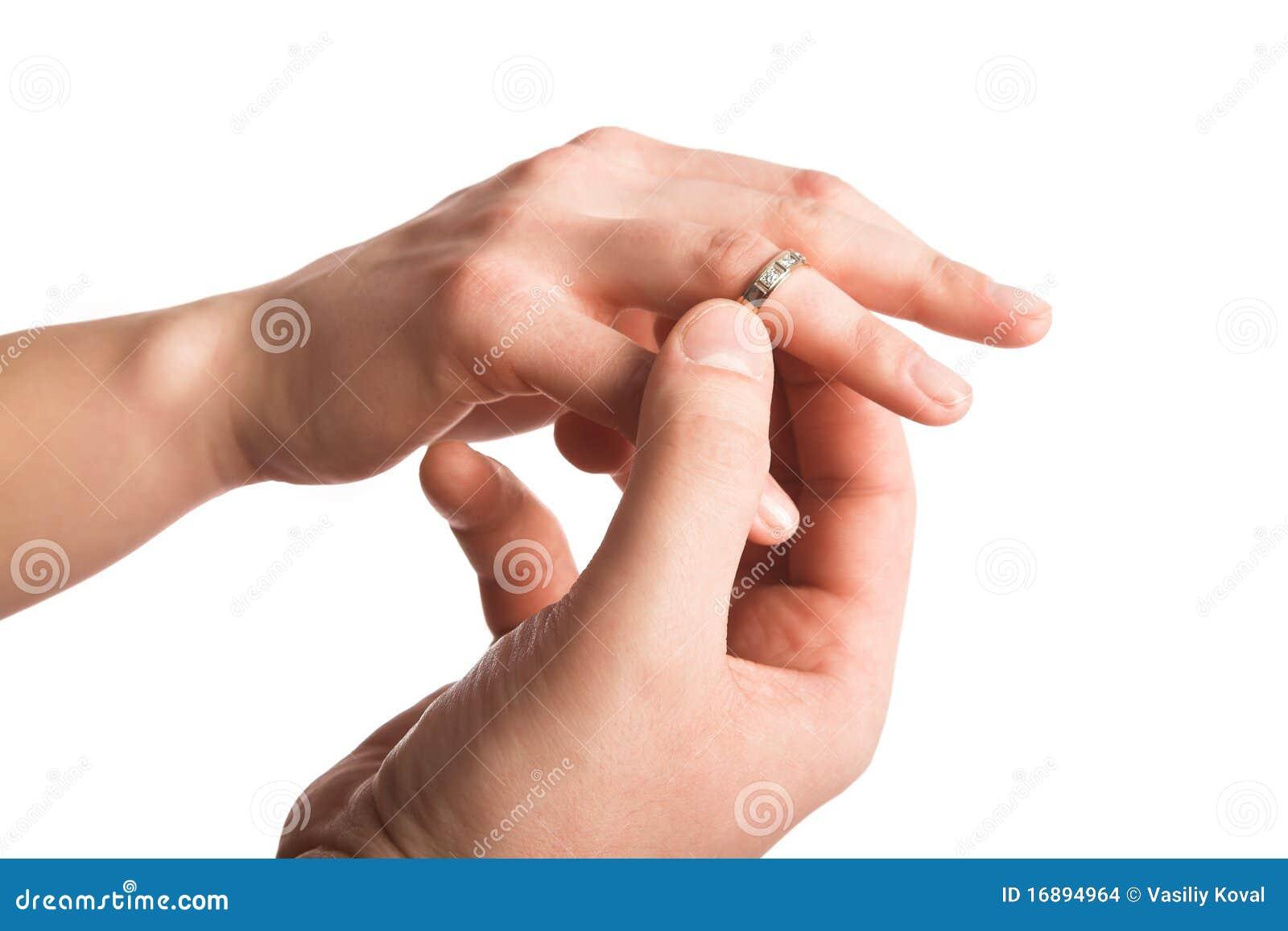 Finger closeup