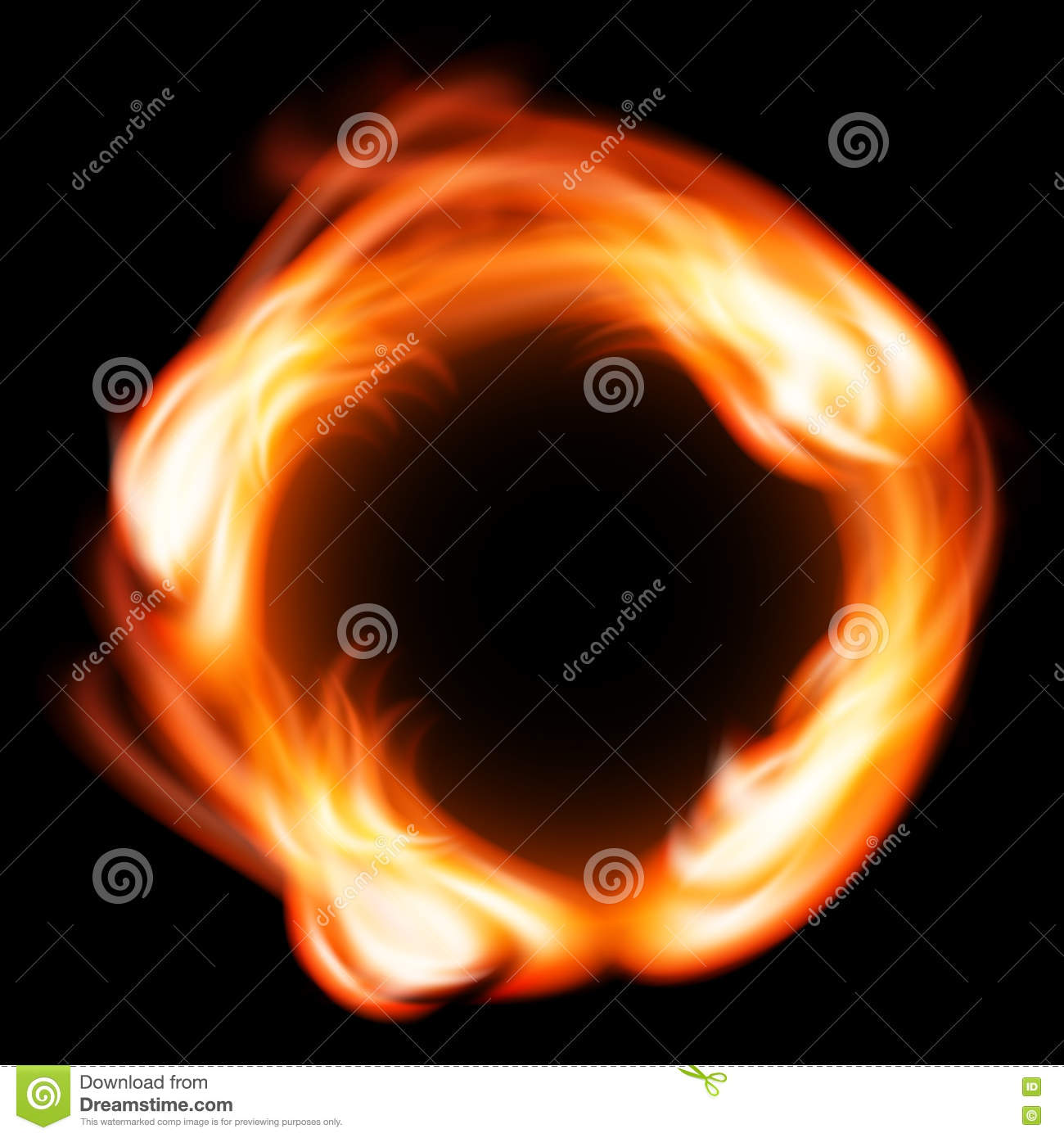 Ring Of Fire. Vector Fiery Circle Background Cartoon Vector |  CartoonDealer.com #58676893