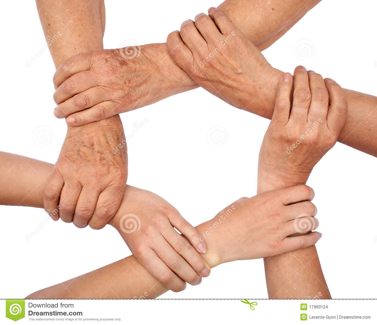 Ring Of Hands Teamwork Stock Images - Image: 17993124