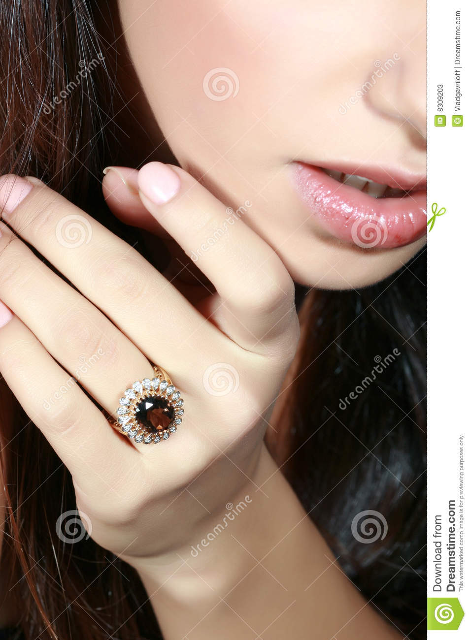 Ring with a jewel