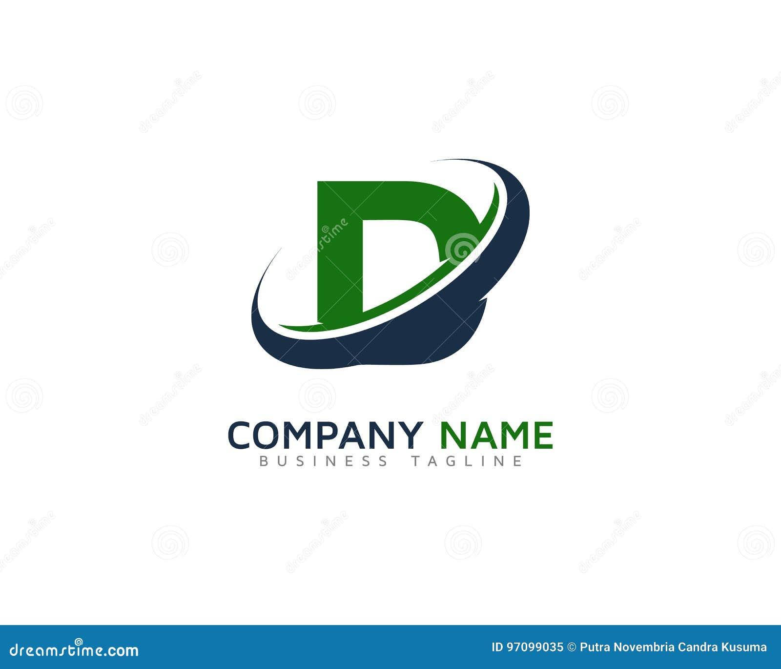 Enement Letter | Ring Letter With Swoosh Icon Logo Design Element Vektor Abbildung