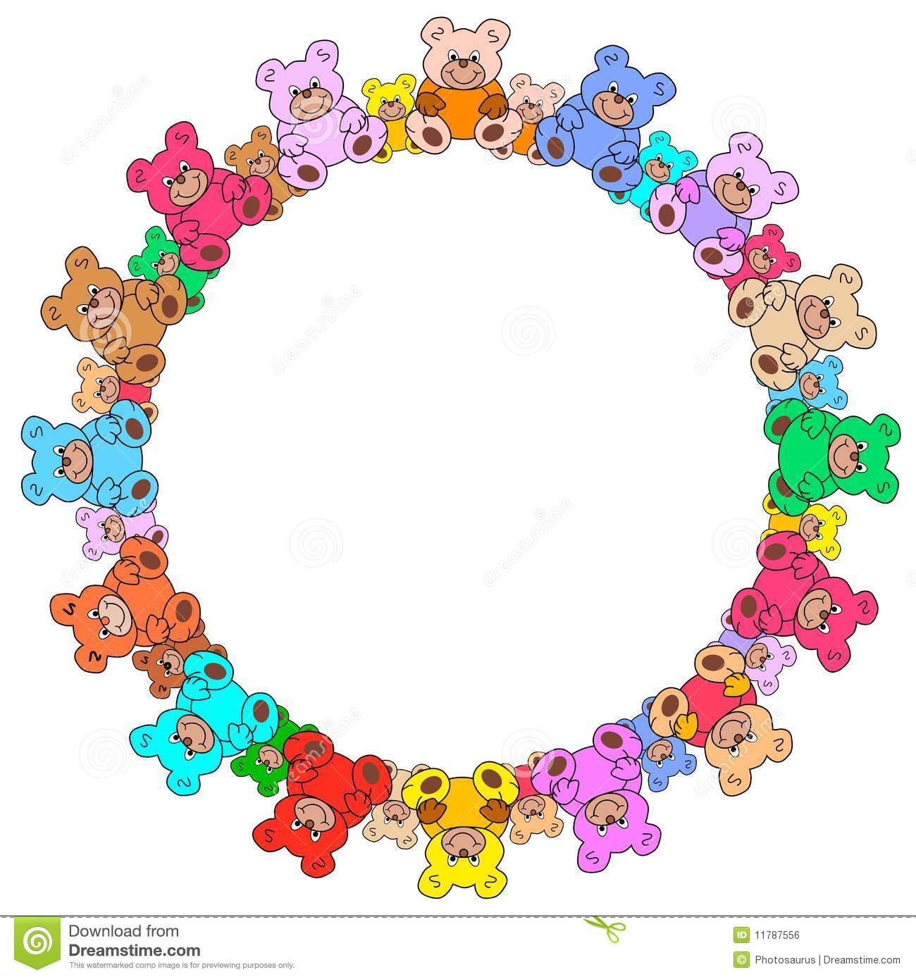 Ring Out Of Colorful Teddy Bears Royalty Free Stock Image ... - photo#8