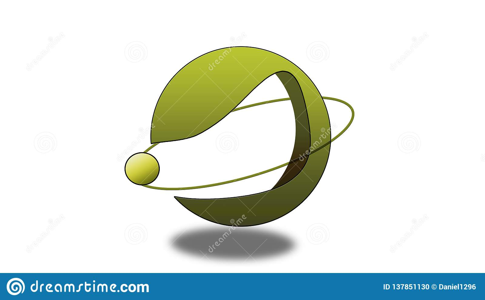 Ring of planet logo
