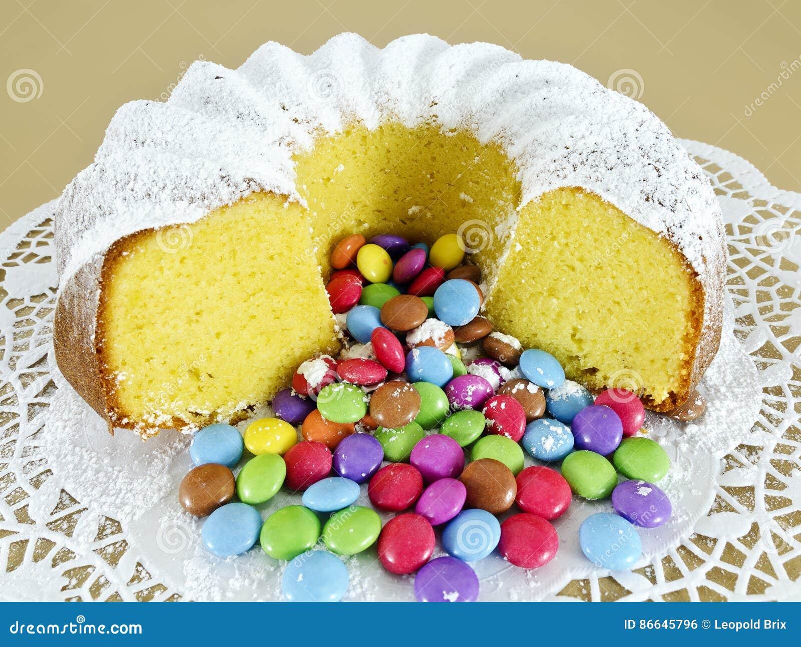 Chocolate Powdered Sugar Pound Cake